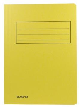 Class'ex dossiermap, 3 kleppen ft 23,7 x 32 cm (voor ft A4), geel