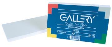 Gallery witte systeemkaarten, ft 7,5 x 12,5 cm, effen, pak van 100 stuks