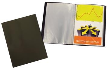Beautone showalbum, A4, 10 tassen, zwart