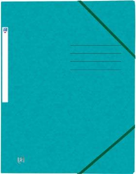 Elba Oxford Top File+ elastomap, voor ft A4, aquablauw