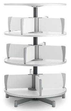 Moll klasseerzuil Multifile, 3 verdiepingen, hoogte 124 cm, voor maximum 72 ordners, wit