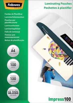 Fellowes lamineerhoes Impress100 ft A4, 200 micron (2 x 100 micron), pak van 100 stuks