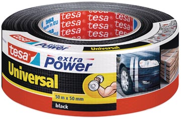 Tesa extra Power Universal, ft 50 mm x 50 m, zwart