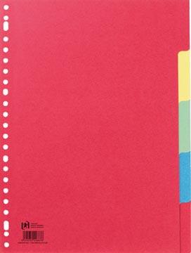 OXFORD tabbladen, formaat A4, uit karton, onbedrukt, 23-gaatsperforatie, geassorteerde kleuren, 5 tabs