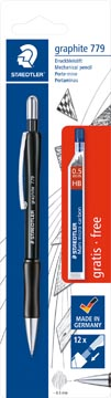 Staedtler vulpotlood Graphite 779 0,5 mm, met gratis fijnstiften