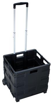 Opvouwbare steekwagen met krat, ft 38 x 36 x 33 cm, maximum 20 kg