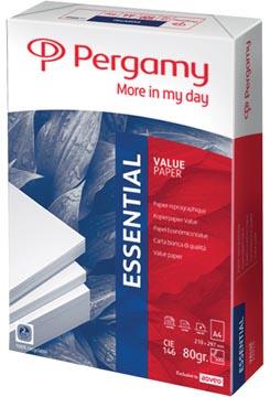 Pergamy Essential kopieerpapier ft A4, 80 g, pak van 500 vel