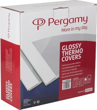 Pergamy thermische omslagen, 50 x 12 mm, 30 x 15 mm en 20 x 18 mm, pak van 100 stuks, wit