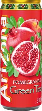 Arizona ijsthee Pomegranate Green Tea, blik van 33 cl, pak van 12