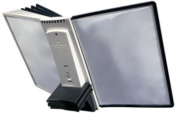 Durable Sherpa Table 10 uitbreidingsmodule voor ref. D563200: set van 10 zichtpanelen grijs/zwart